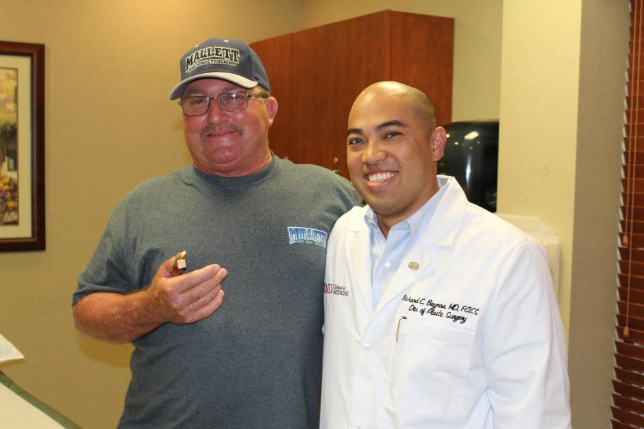 Photo: Ben Mays with Dr. Richard Baynosa